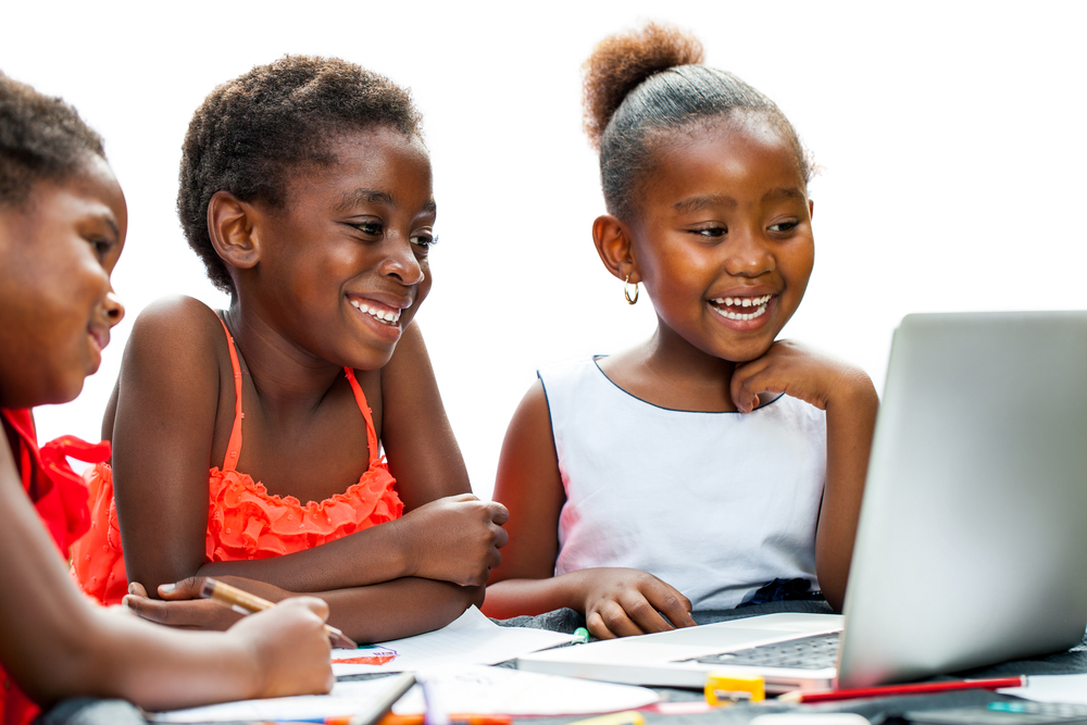 Young African American students