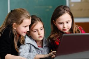 Children using Chromebooks