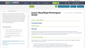 Easy Steps Participant Guide