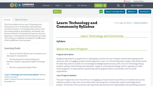 Technology and Community Syllabus