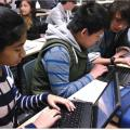 Photo of students using Chromebooks at Richland Two