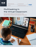Image of the cover of the multitasking in the virtual classroom white paper